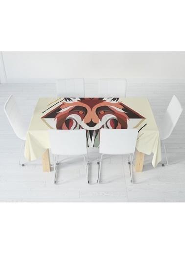 Artikel Kırmızı Gözlü Köpek Masa Örtüsü 140X160Cm Renkli